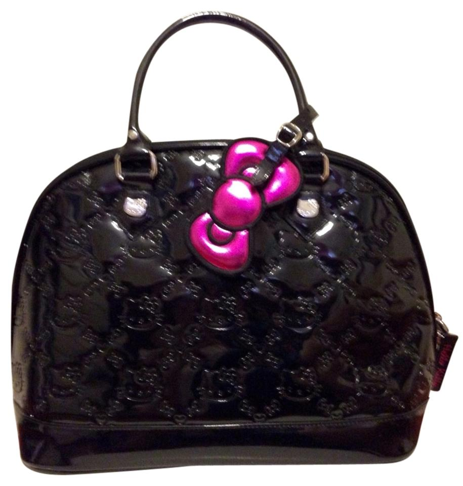 360d019168 Hello Kitty Loungefly Embossed Patent Leather Black Shoulder Bag ...