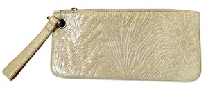Hobo International Wristlet Embossed Leather White Clutch