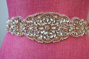 Rose Gold Bridal Belt - Champagne Bridal Belt - Nwt