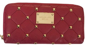 MICHAEL Michael Kors Michael Kors Red Wallet With Gold Studs