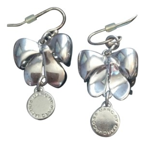 Marc by Marc Jacobs Silver Bow Drop Earrings