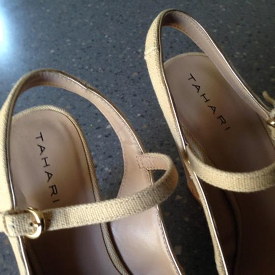 Tahari Creme Yellow Platforms