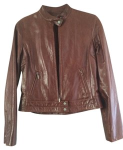 Elie Tahari Oxblood Leather Jacket