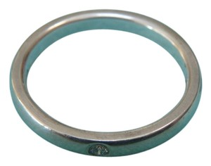 Tiffany & Co. Tiffany Co. Elsa Peretti Sterling Silver Diamond Stacking Ring size 5, new with pouch