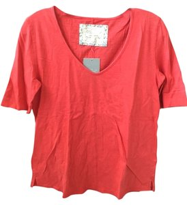 Anthropologie T Shirt Red/Rouge