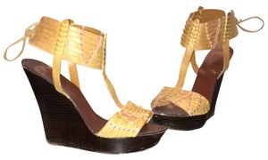 bebe Tan Wedges