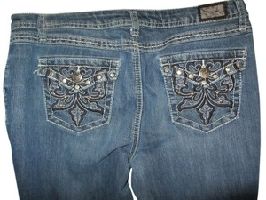 Earl Jean #embellished #cropped #denim Capri/Cropped Denim-Medium Wash