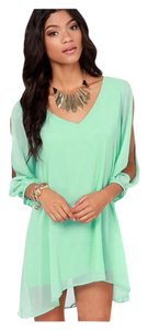 short dress Mint Green Bohemian Free People on Tradesy