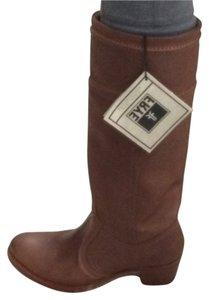 Frye Taupe Brown Boots