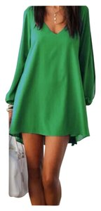 Other short dress Green Bohemian Free People Anthropology Hippie Chiffon on Tradesy