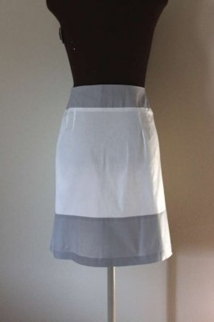 Other Anthropologie Color Block A-line Skirt White