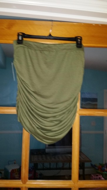 Free People Mini Detail Classic Comfortable Mini Skirt Army Green