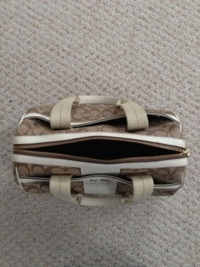 Coach Satchel in Beige, Tan, Off-White