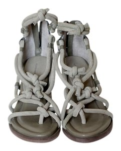 Alexander Wang Suede Thong Open Toe Sandal Sage green Sandals