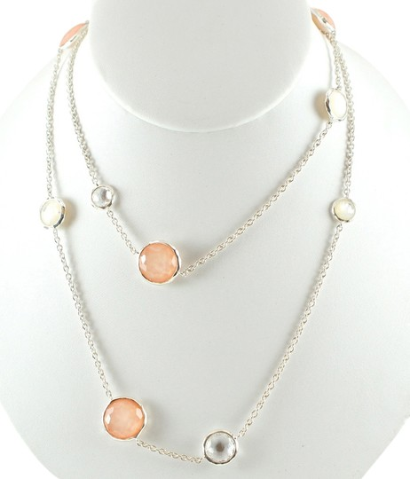 Ippolita IPPOLITA .925 Silver Long Blush Mother of Pearl Wonderland Chain Necklace 40