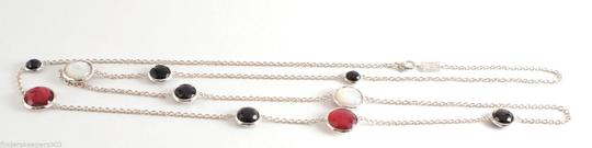 Ippolita IPPOLITA Sterling Silver Wonderland Long Chain Necklace Black Onyx Red Rose 40