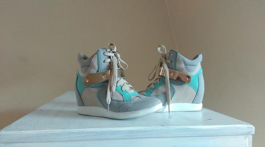 Other Tan, Mint Green, Grey and Gold Athletic