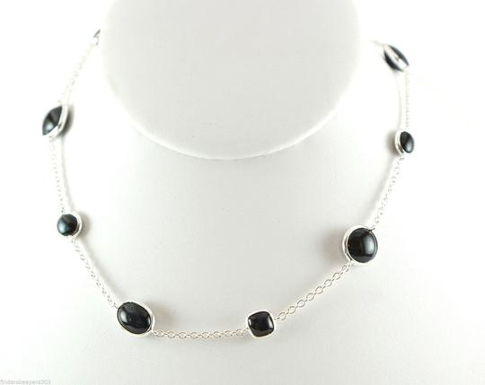 Ippolita IPPOLITA .925 Silver Scultura Blue Tigers Eye Multi Shape Station Chain Necklace