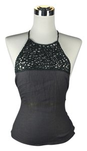 Emporio Armani Grey Halter Top