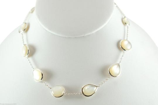 """Ippolita IPPOLITA .925 Sterling Silver Scultura White Mother of Pearl 17"""" Chain Necklace"""