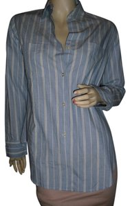 Emanuel Ungaro Button Down Shirt blue & white