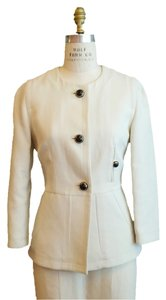 Marni Collarless Ladylike Ivory Jacket