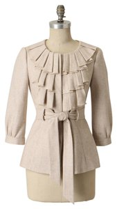Anthropologie Wool Lined Dry Clean Beige Jacket