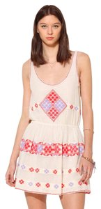 GAT RIMON short dress Cream, purple and pink on Tradesy