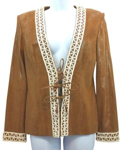 St. John Couture Suede Leather Jacket