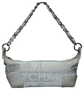 Chanel Summer Evening Cc Logo Wristlet in white