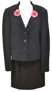 Moschino MOSCHINO CHEAP AND CHIC FLORET DETAIL BLACK BLAZER JACKET US 8 IT 42