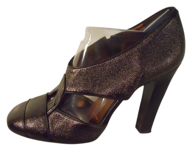 Item - Brown Leather Metallic Pumps Size US 7.5 Regular (M, B)