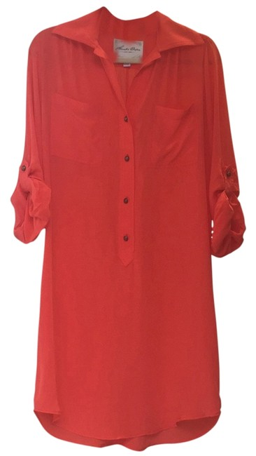 Item - Coral Knee Length Short Casual Dress Size 8 (M)