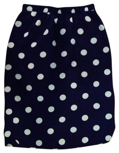 Madewell Silk Mid-length Skirt Navy Blue