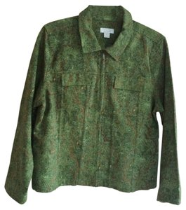 Christopher & Banks Casual 100% Cotton GREEN Jacket