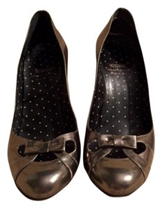 Moschino Pewter Pumps