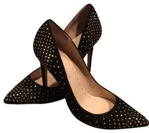 Enzo Angiolini Black with gold studs Pumps