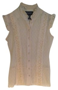 City Streets Top Beige Lace