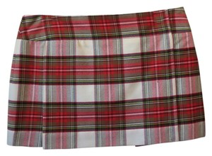 Burberry London Brown Wrap Mini Skirt Plaid
