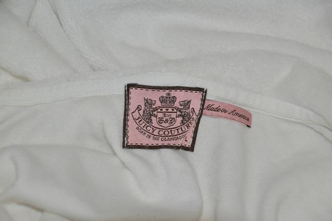 Juicy Couture JUICY COUTURE White Cotton Blend Women's Sweat Set Size L/S On Sale