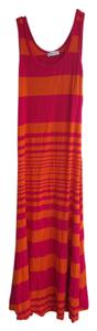 Orange and Pink Maxi Dress by Calvin Klein Striped Maxi Summer Long
