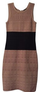 bebe Fitted Colorblock Knit Sexy Sheath Dress