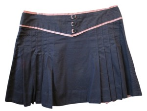 Marc Jacobs Pleated Mini Skirt blue / pink / navy
