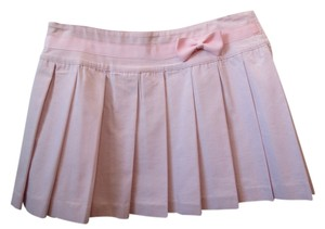 A.B.S. by Allen Schwartz Pleated Mini Skirt pink & white stripe
