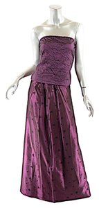 Nicole Miller NICOLE MILLER COLLECTION Amethyst Acetate Blend Satin Skirt + Bustier Set