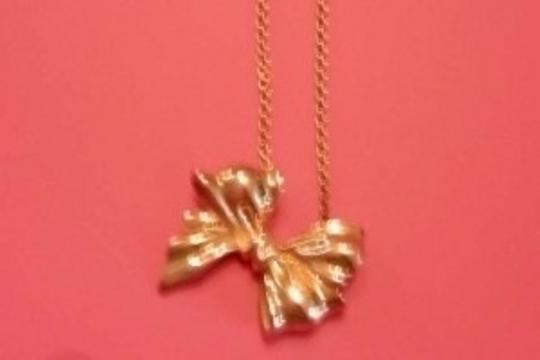 Tiffany & Co. Tiffany & Co. Sterling Silver Ribbon Bow Pendant Necklace