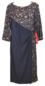 R & M Richards Navy Blue Dress
