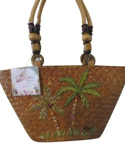 Capelli New York Palm Tree Tropical Vacation Shoulder Bag