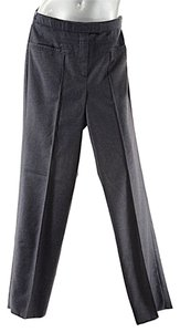 Chado Ralph Rucci Charcoal Wool Flannel Trouser Pants Grey