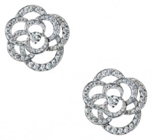 Chanel Chanel Camelia Earrings in 18K white gold and diamonds